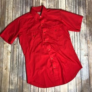 Vintage HBarC California Red Ranchwear Shirt Top